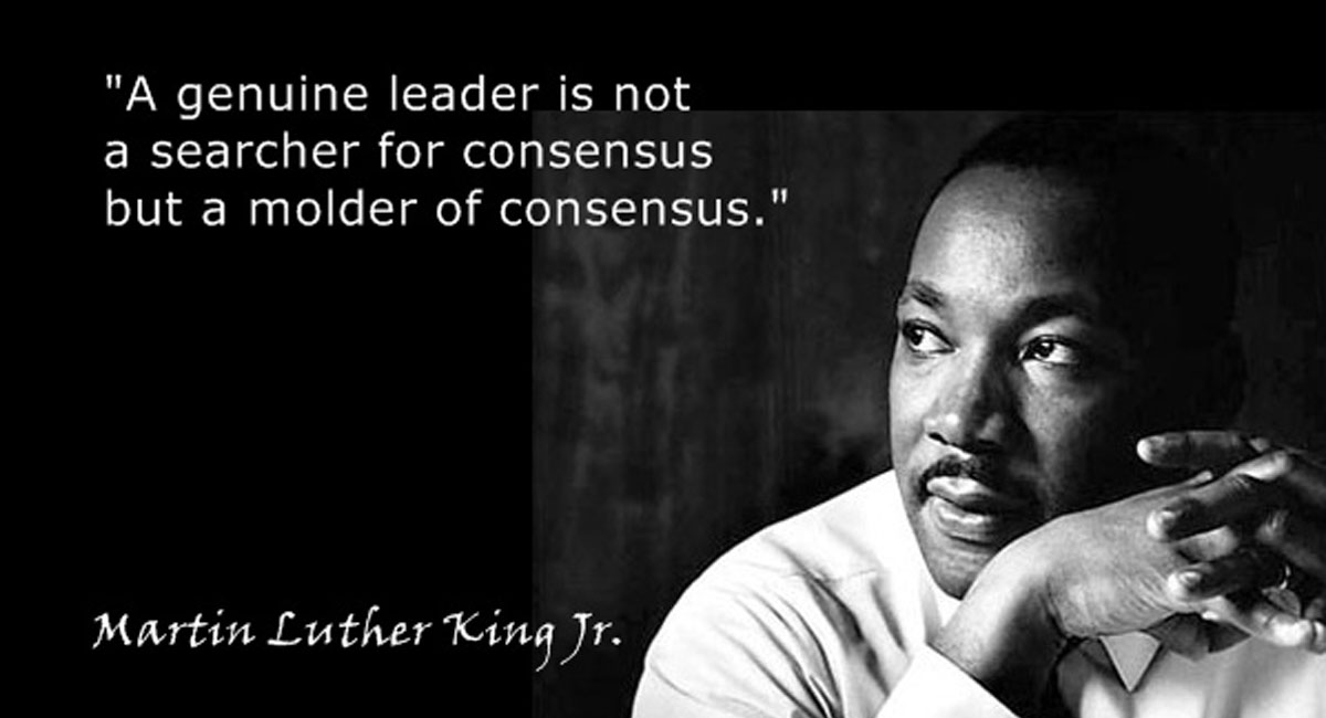 Consensus Facebook Meme, Martin Luther King on Consensus