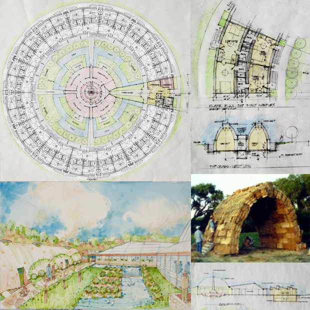 one community pod 2, straw bale communal living, straw bale eco architecture