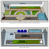Aquaponics Designs, aquapini, walipini aquaponics, sustainable food design, eco-food