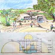 The Center of Peace, eco dome plans, free eco architecture plans, global sustainability, LEED Platinum, One Community