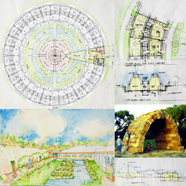 Strawbale architecture, building with straw bales, straw bale sustainability, sustainable world, open source green living plans