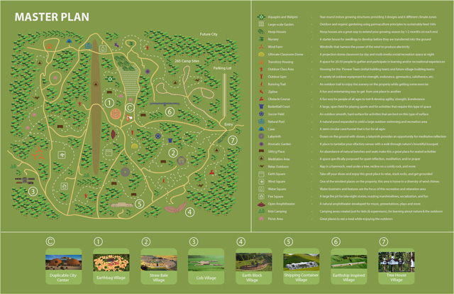 One Community Master Plan - One Community Home Shares - Click for the Highest Good Housing page with a click-to-enlarge version