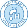 Heating hot water, hot water heating