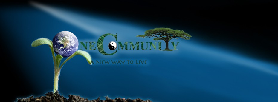 a new way to live, one community community header, earth, sustainability