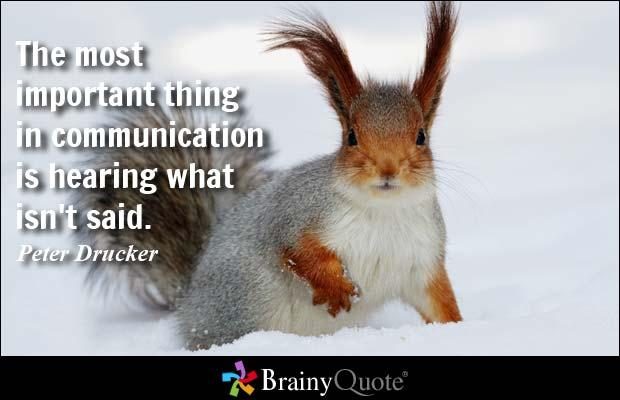 Communication Quote, brainy quote