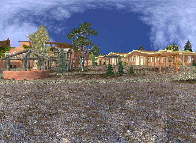 Cob Village Final Render, Center View Looking Northwest, Dean Scholz, One Community