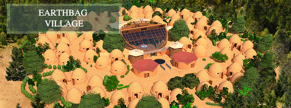 Earthbag Village Header, Pod 1, One Community