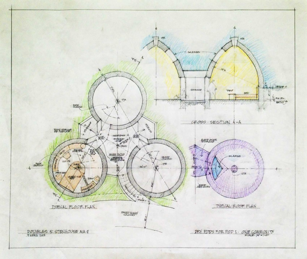Layouts For Dome Homes Plans: Open Source Earthbag Village