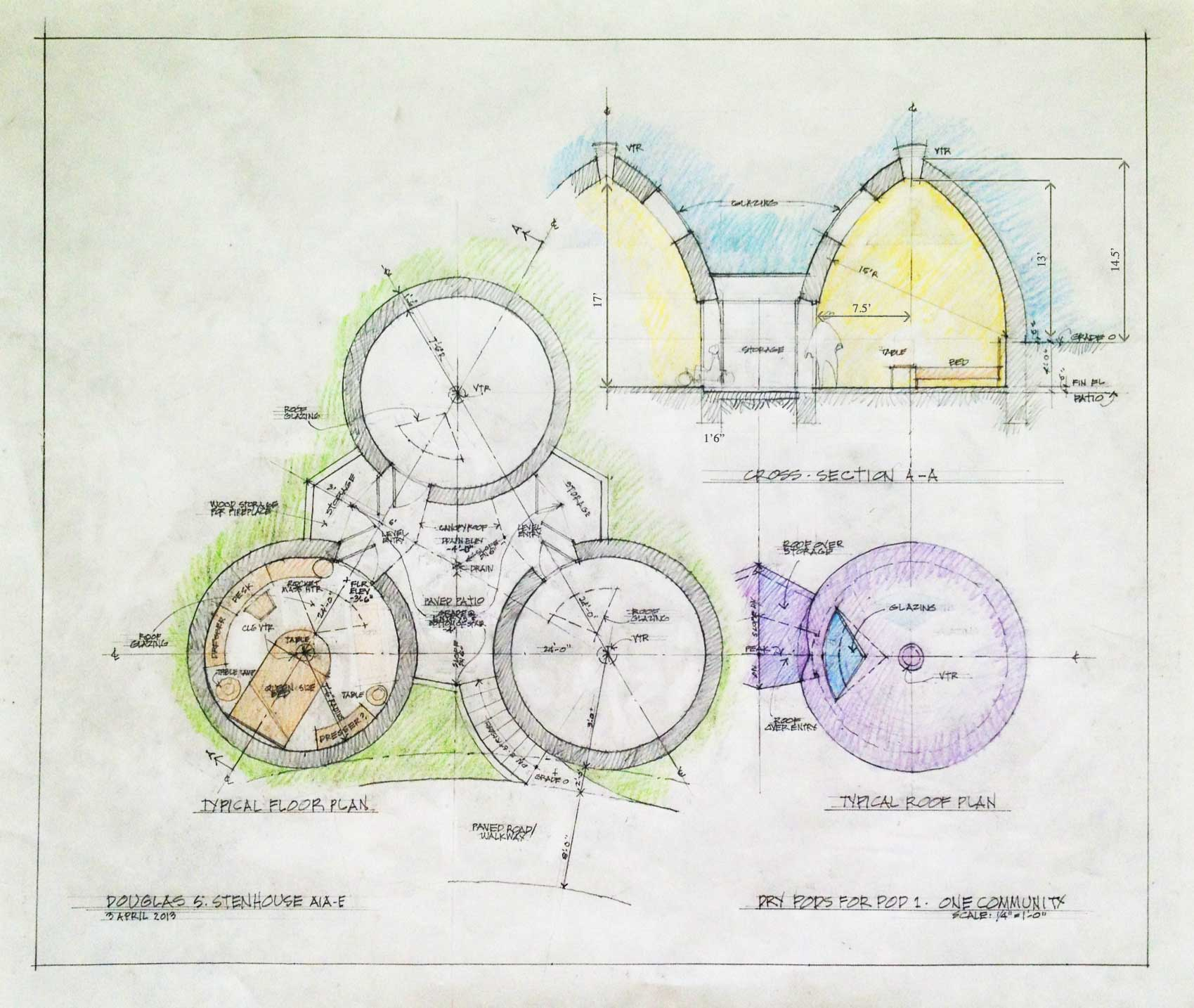 Basic Dome Home S Interior Plans: Portal: One Community Earthbag Construction Village (Pod 1