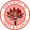 Sketchup Trees, Sketchup plants, how to use sketchup