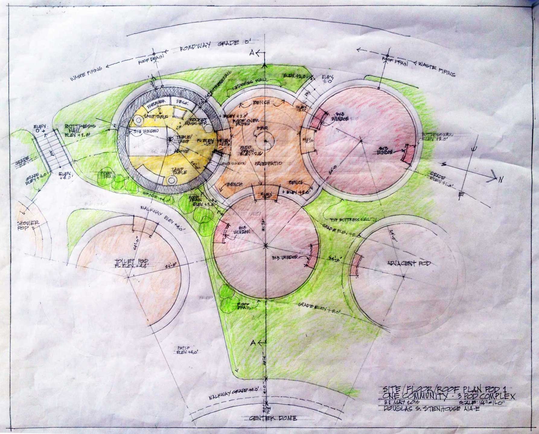 earthbag consruction, superadobe construction, super adobe construction, earth building, earth dome, dome home, One Community, sustainable living, eco living, dirt home, building with earth, earthbag village, sustainable building, construction of the future