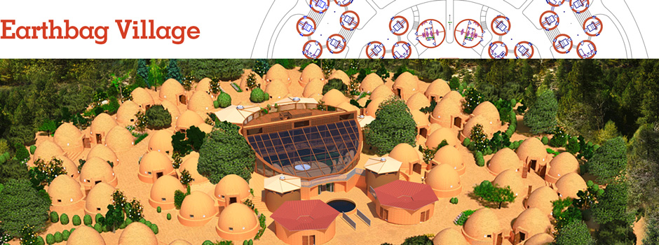 Earthbag Village Header, Pod 1, One Community, earth bag construction, earthbag architecture, building with earthbags, building with earth, earthbag community, earth architecture, green living, earthbag community, earthbag eco-tourism, earth building, earth construction, One Community Pod 1