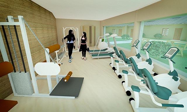 One Community straw bale village final render Gym