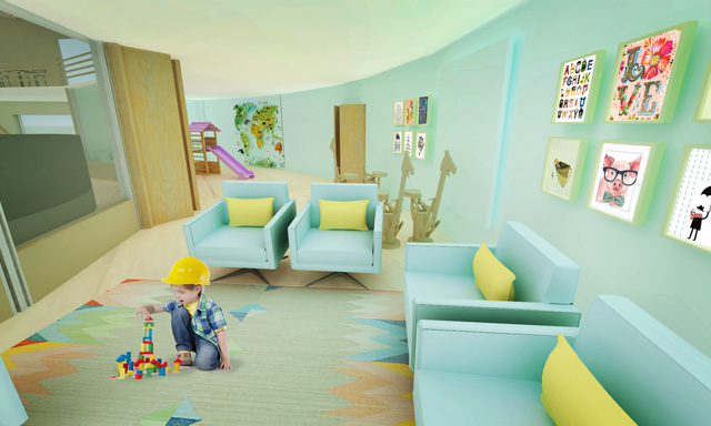 One Community Final Render, Straw Bale Village, Playroom