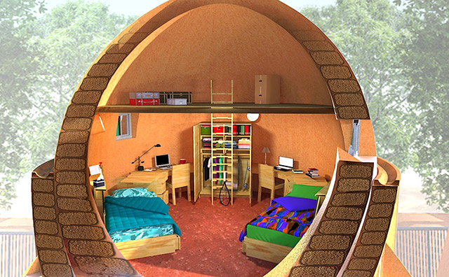 Student's furniture Model, One Community Earthbag Village