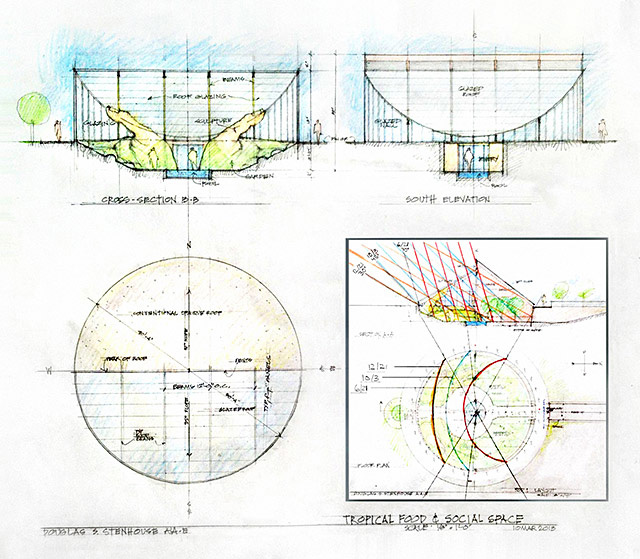 Tropical Atrium Concept Sun Calculation, One Community