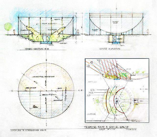Tropical Atrium Concept Sun Calculation, One Community
