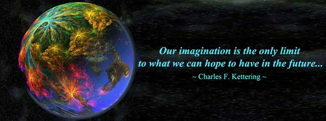 Charles F Kettering Quote, Our imagination quote, world change, One Community, transforming the world