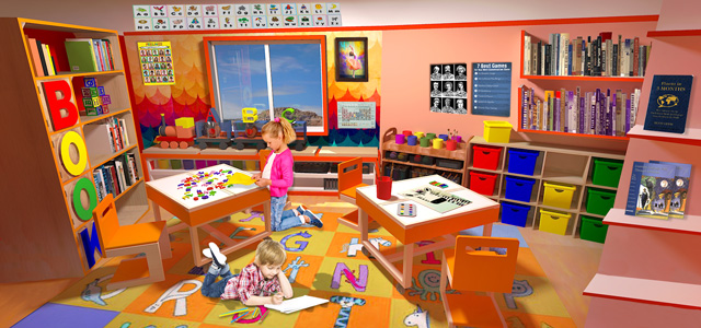 One Community, The Ultimate Classroom, Orange Room English, Final Render