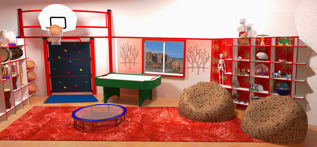 One Community, The Ultimate Classroom, Red Room Final Render, Guy Grossfeld