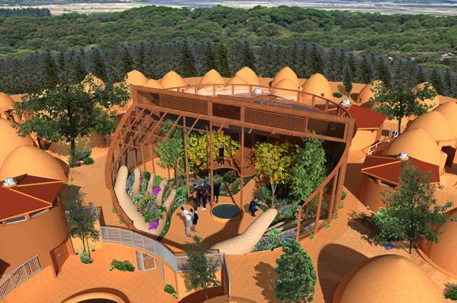 One Community Tropical Atrium, Open Front