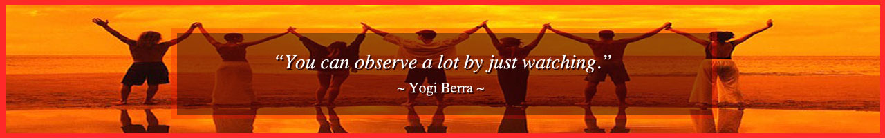 observe by watching, lead with observation, Yogi Berra Quote, strategies of being