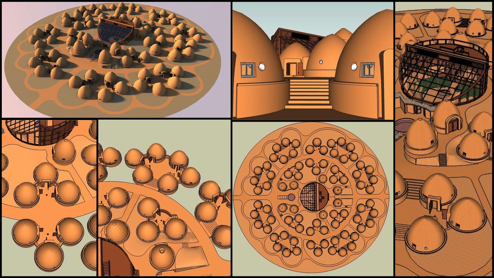 earthbag village layout