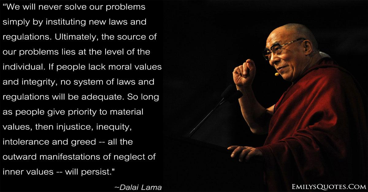 Dalai Lama quote, Honesty and Integrity Facebook Meme