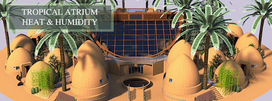 Tropical Atrium Heat and Humidity Control, One Community