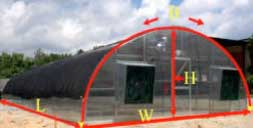 Calculating Hoop House Plastic