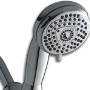 Eco 563 Shower Head by Waterpik, Waterpik Shower Head, Waterpik Showerheads, water saving shower heads, water saver showerheads, water conservation, water use reduction, the best shower heads, showers that use less water, using very little water, reducing water use, water conservation, making water last, Highest Good water, One Community, showerhead review, shower head reviews, reviewing shower heads