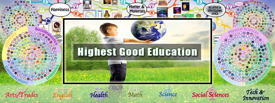 Highest Good education, One Community education, open source eduction, new-paradigm education