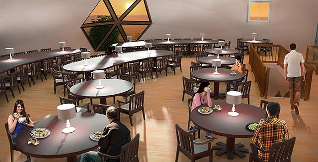Duplicable City Center, 2nd Floor Dining Hall and Meeting Area, One Community