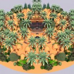 Earthbag Village with Sketchup Plants