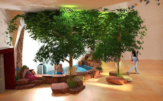 Duplicable City Center Indoor outdoor pool final render, One Community