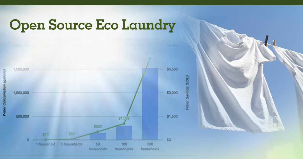 Eco-Laundry: Open Source Sustainable Laundry Research and Design