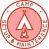 Camp Setup and Maintenance round icon, One Community crowdfunding campaign