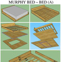 Murphy Bed ~ Bed A - click to enlarge