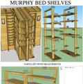 Murphy Bed Shelves