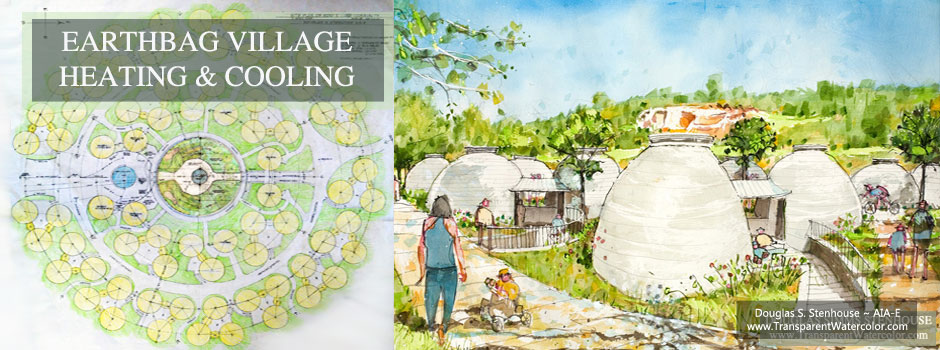 Earthbag Village Heating and Cooling