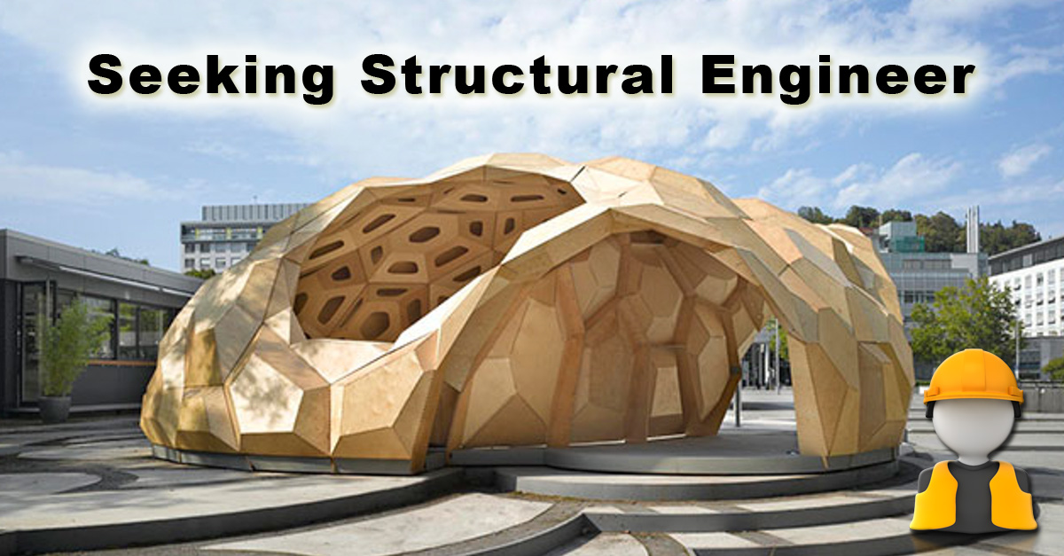 One community now seeking structural engineers for I need a structural engineer