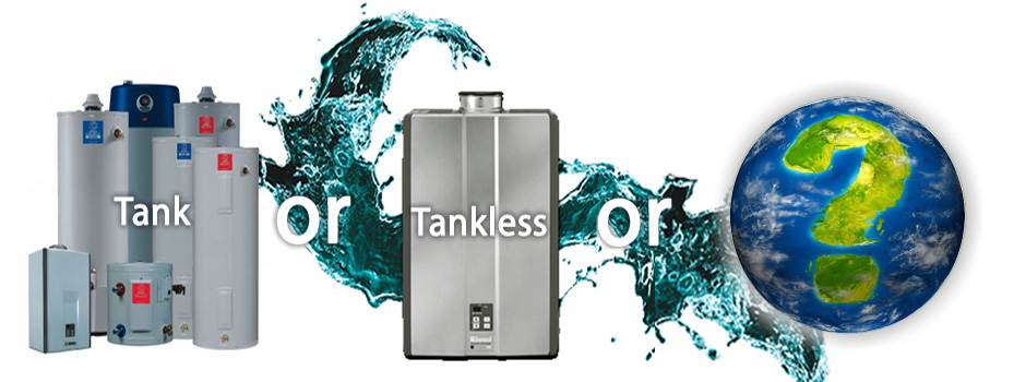 sustainable water heating: tank vs tankless vs heat pumps in off