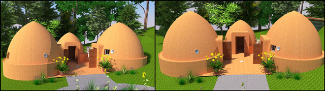 Earthdome construction, aircrete dome construction, dome home crowdfunding