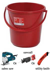 4-gallon-bucket for filling earthbags, One Community