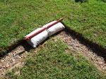1st earthbag course