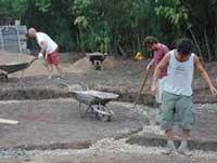 earthbag gravel foundation