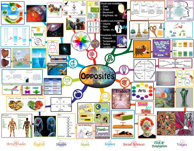 Opposites Mindmap, Opposites Lesson Plan, Opposites and Education