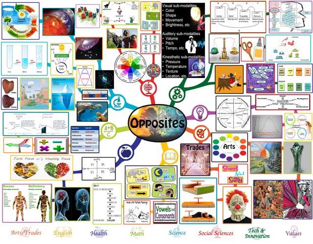 Opposites Mindmap, Opposites Lesson Plan, Opposites and Education