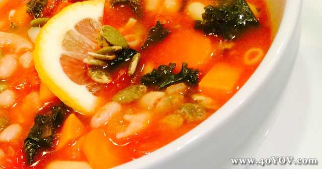 One Community Recipe, Kale and White Bean Soup