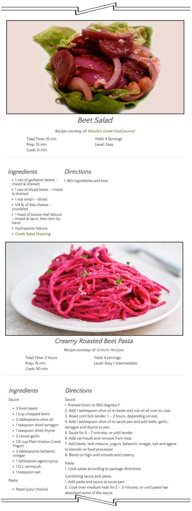 Food Hub Recipes